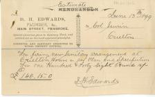 Estimate sent from D. H. Edwards Plumber Main...