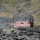 'Cofiwch Llechwedd' mural, Blaenau...