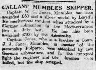 GALLANT MUMBLES SKIPPER (1919)
