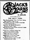 JACK'S YARNS: THE WILY TURK
