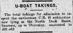 U-BOAT TAKINGS (1919)