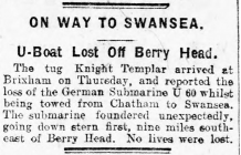 ON WAY TO SWANSEA (1919)
