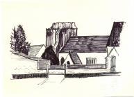 Holy Cross church, Cowbridge sketch