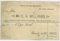 33 High St, Cowbridge, invoice 1894