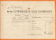 Cowbridge Gas Company invoice 1919