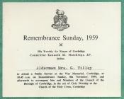 Remembrance Day service, Cowbridge 1959