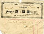 45 & 47 High St, Cowbridge, 1890 invoice