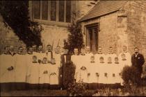 Holy Cross, Cowbridge, choir early 1900s