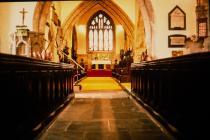 Holy Cross, Cowbridge interior 1981