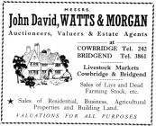 55 High St, Cowbridge, 1963 advert
