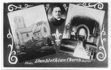 Llanblethian church with Rector ca 1920