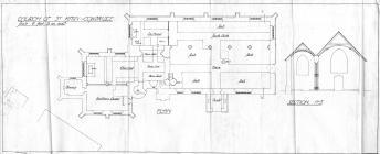 Holy Cross, Cowbridge, interior plan 1917