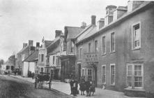 Bear Hotel & High St, Cowbridge ca 1900