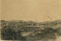 Cowbridge view, engraving ca 1865