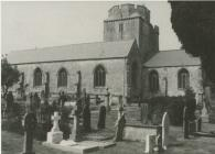 Holy Cross, Cowbridge, rear view 1990s