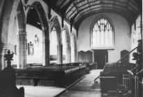 Holy Cross, Cowbridge interior 1980