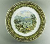 Prattware plate showing Hafod Mansion