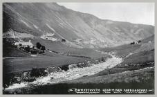 Postcard of Cwmystwyth Lead Mines and nearby...