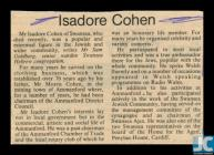 Obituary of Isadore Cohen, Swansea, 7 November...