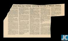 Newspaper clipping with readers responses to an...