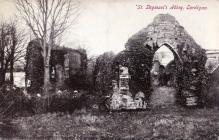 Postcard of St Dogmaels Abbey by R. J. Owen