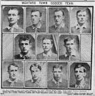 Newspaper depiction of the 1909 Merthyr Town team