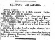 SHIPPING CASUALTIES.