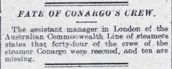 FATE OF CONARGO'S CREW.