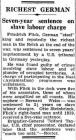RICHEST GERMAN Seven-year sentence on slave...