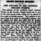 BRAVE BRITISH SEAMEN. THE SALVAGE OF THE...
