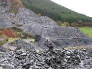 Ray Gunn at Aberllefenni slate quarry 2009