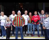 Merthyr Town fans on retro shirt day in 2019
