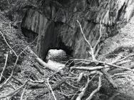 The open chamber at Rhiwgreiddyn slate quarry