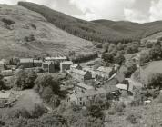 View of Corris Uchaf from the old tramway
