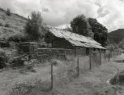 Abercwmeiddaw quarry slate mill shed