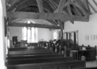 Inside Tal-y-llyn church
