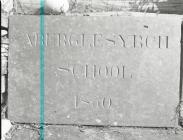 Aberglesyrch School Slate Nameplate1850