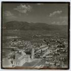 Arial photograph of Pisa, Italy, taken during...