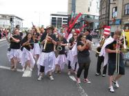 Wonderbrass at Cardiff Carnival, 2013