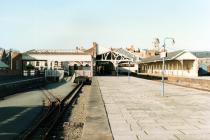 Aberystwyth Train Station View of Platforms