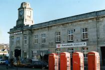 Aberystwyth Railway Station Red Telephone Boxes