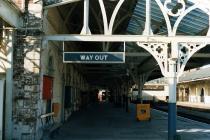 Aberystwyth Railway -Station - Platform Sign...