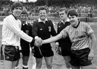 Welsh Cup Final 1987 Captains' handshake