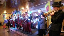 Wonderbrass playing at Whiteheads, Newport