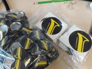 Wonderbrass badges and stickers
