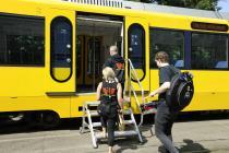 """A tram called """"Cardiff"""" - Stuttgart"""