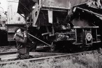 Worker at Woodham's Scrap Yard