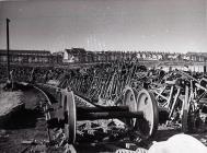 Engine Wheels in Woodham's Scrap Yard