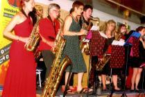 Wonderbrass playing at Whiteheads, Newport