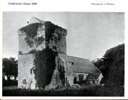 Llanfrynach church, near Cowbridge 1889